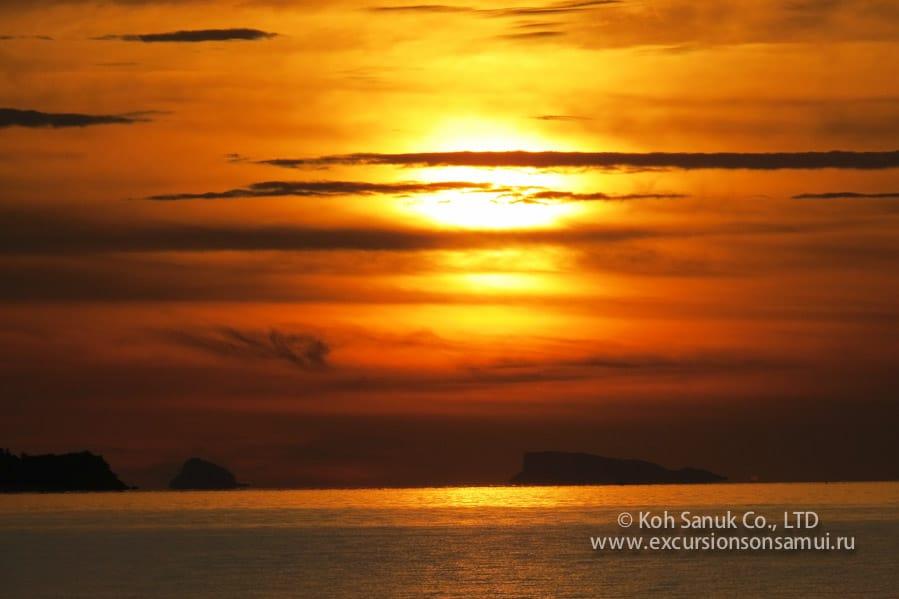 Тур на закате с ужином и трансфером на остров Koh Tan, остров Самуи, Таиланд
