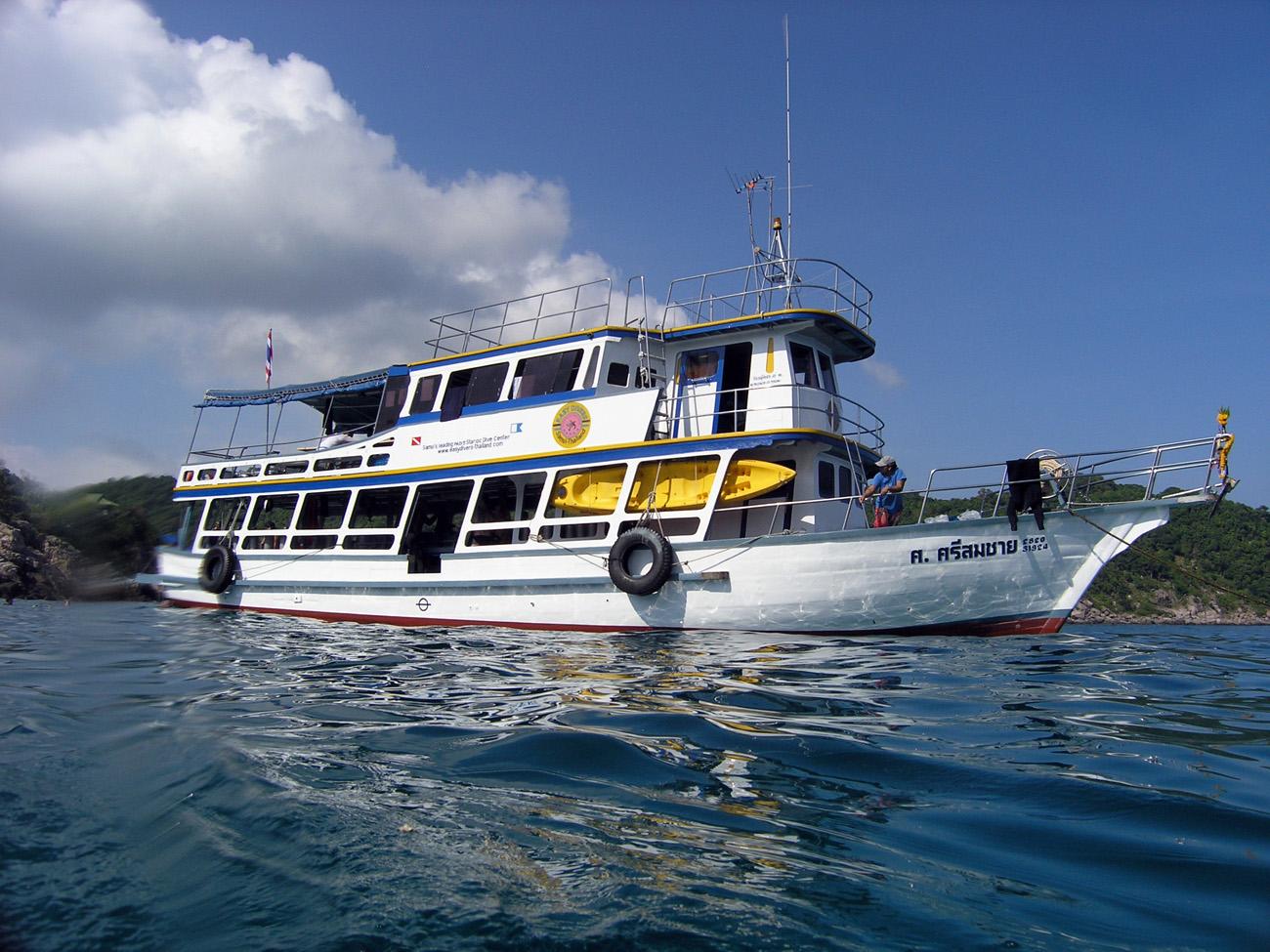 Дайвинг с тайского кораблика (Big boat), остров Самуи, Таиланд