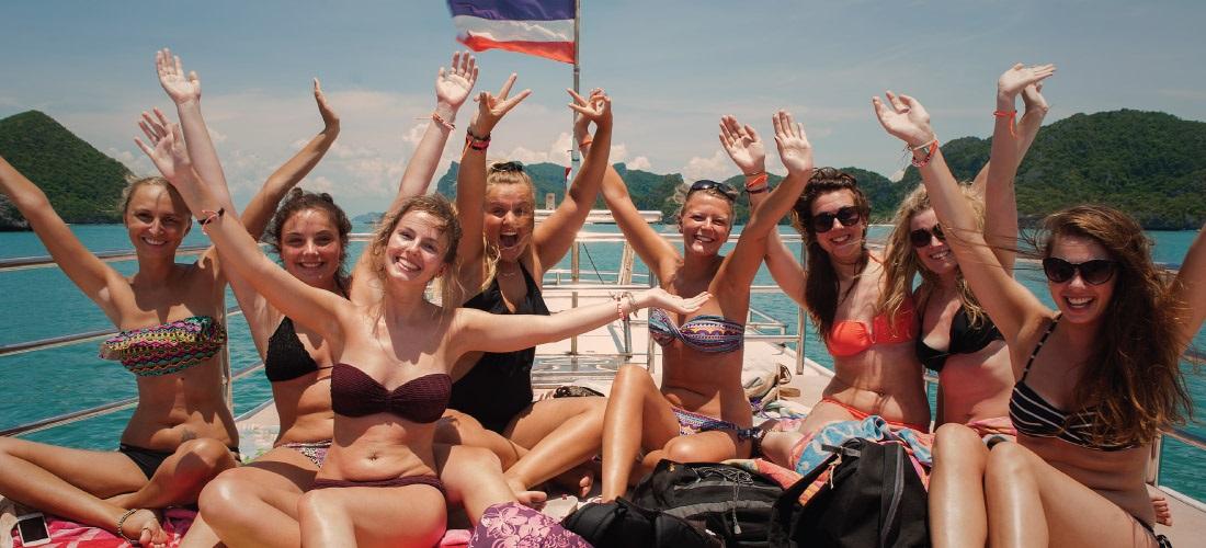 Тур в морской парк Ангтонг с о. Панган на тайском кораблике, остров Самуи, Таиланд