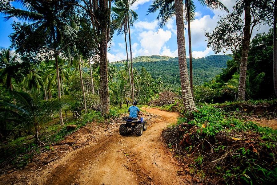 Тур на квадроциклах в джунглях с заездом на водопад!, остров Самуи, Таиланд