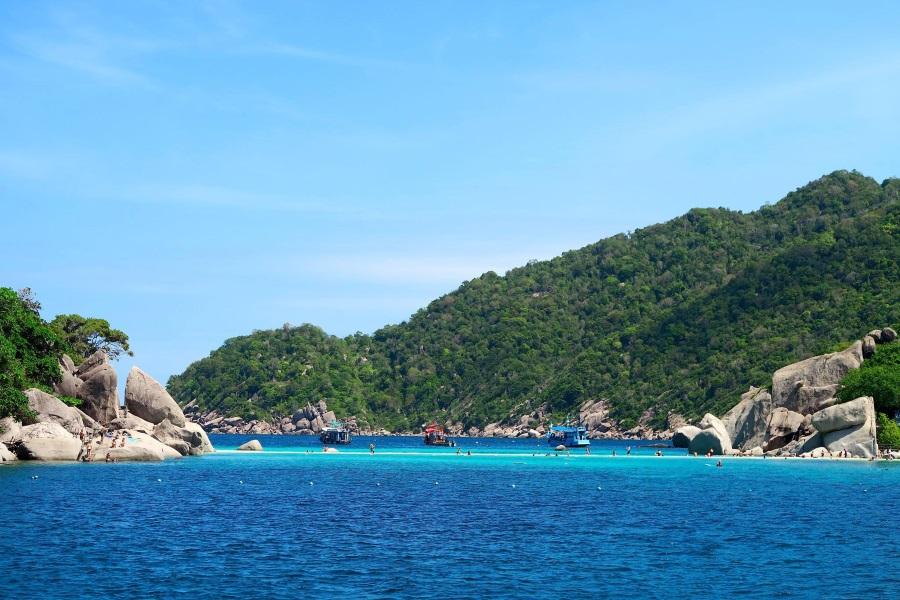 Дайвинг на катамаране, остров Самуи, Таиланд