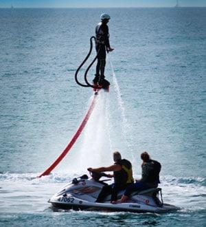 Левитационная установка для полетов над водой JetLev Flyer, о. Самуи