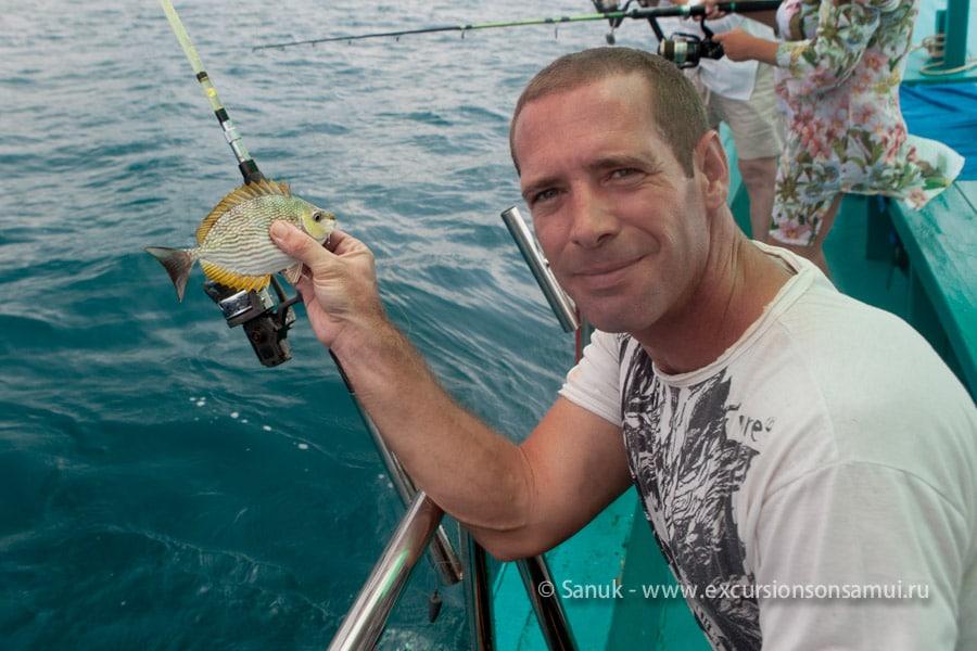 Морская дневная рыбалка к югу от о. Самуи, остров Самуи, Таиланд
