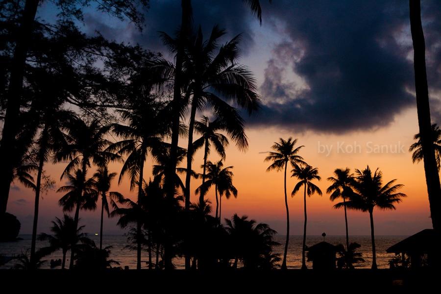 Романтическая ночь на острове морского парка Ангтонг, остров Самуи, Таиланд