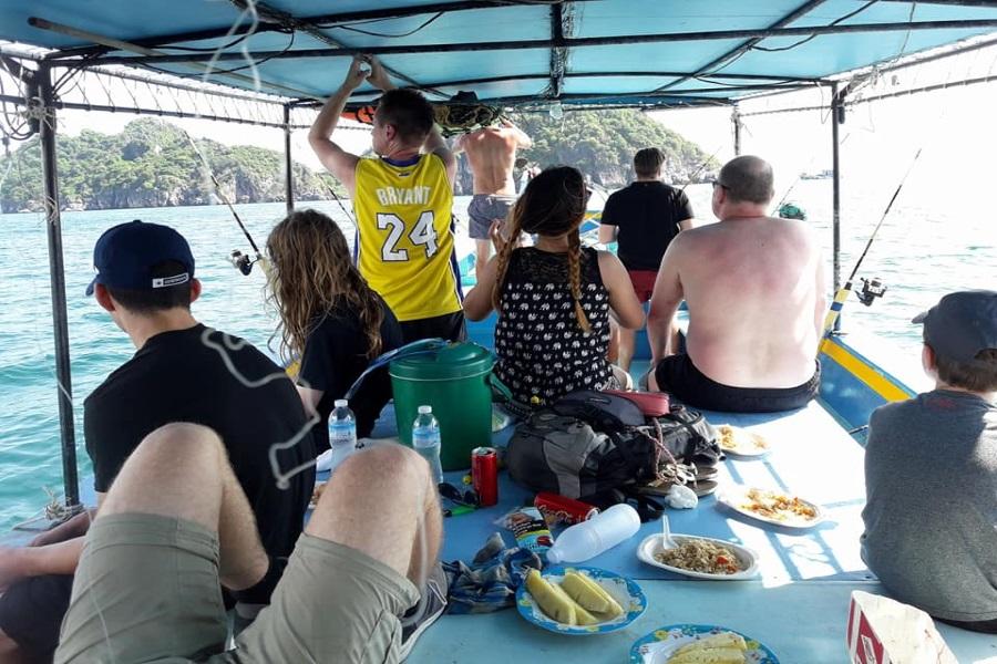 Круизы и рыбалка на рыбацкой лодке с о. Панган, остров Самуи, Таиланд
